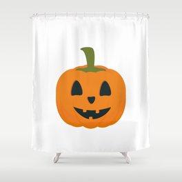 Classic Halloween pumpkin Shower Curtain