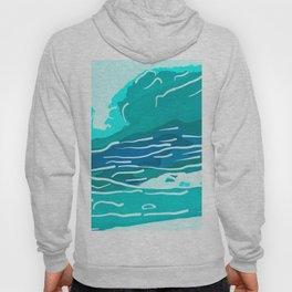 abstract style aurora borealis absdri Hoody