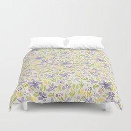 Floral watercolor purple pattern 6 Duvet Cover