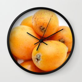 Loquats Wall Clock