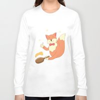 cook Long Sleeve T-shirts featuring cook pancakes by 1ena