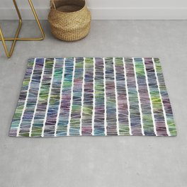 Watercolor Pattern Play - Triangle Meets Rectangle - Blue Rug