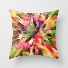color explosion gogh pattern gosepia Throw Pillow