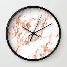 Rose Gold Marble - Perfect Pink Rose Gold Marble Wall Clock