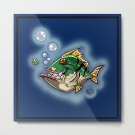 "a ""Fishy"" Smile... Metal Print"