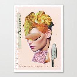 Die Kuchenfrau · hätt ich dich heut erwartet... Canvas Print