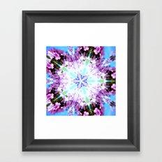 Purple Flower Series Framed Art Print