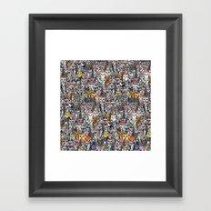 Gemstone Cats - Gold Framed Art Print