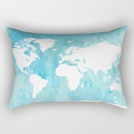 World map. JD Rectangular Pillow