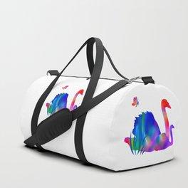 Rainbow swans Duffle Bag
