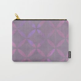 Round Pink Grey Pattern Carry-All Pouch