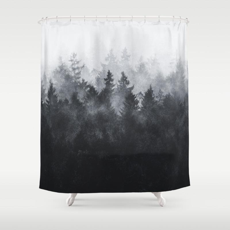 Black White Shower Curtains Society6