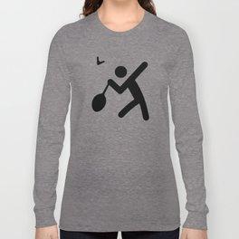 Badminton Stickfigure Long Sleeve T-shirt