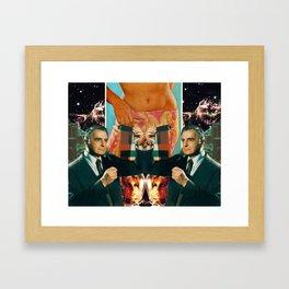 Galaxy Girl Framed Art Print