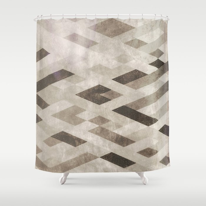 Abstract Pattern in Subtle Shower Curtain