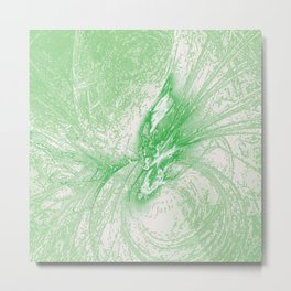 Splatter in Limeade  Metal Print