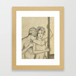 valentine kiss #8 Framed Art Print