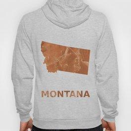 Montana map outline Peru hand-drawn wash drawing Hoody