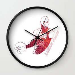 LeBron Cleveland Wall Clock
