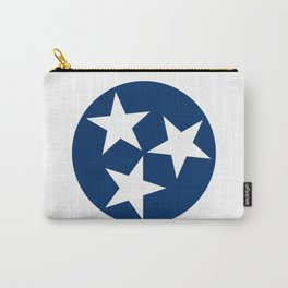Tennessee State Flag Blue White Stars Carry-All Pouch