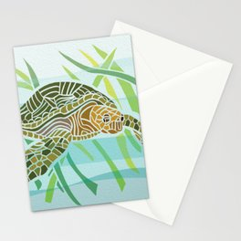 Sea Turtle at Home Stationery Cards