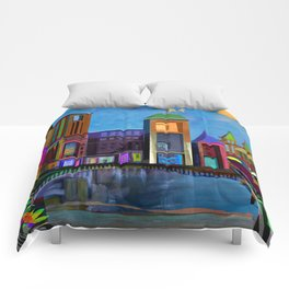 down town Comforters