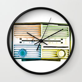 Vintage Radio Pop Art Wall Clock