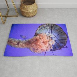 Jellyfish Photography | Rainbow | Colourful Deep Sea Exploration Rug