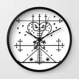 Maman Brigitte Veve Spirit World Blessings Voodoo Goddess Wall Clock