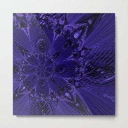 Spiral Star Purple55 Metal Print