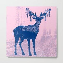Hirsch Blue Metal Print
