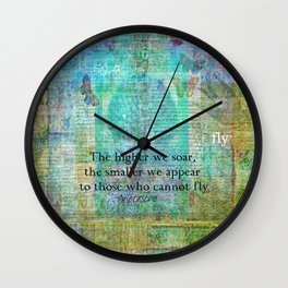 Nietzsche inspirational SOAR quote Wall Clock