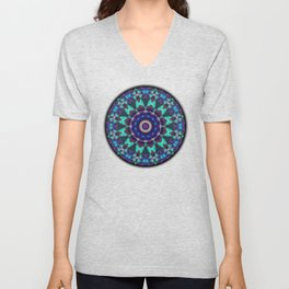 Abstract Patchwork Unisex V-Neck