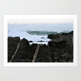 Stormy sea over the cliffs, Tsitsikamma, South Africa Art Print