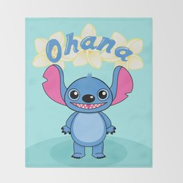 Cute Alien Throw Blanket