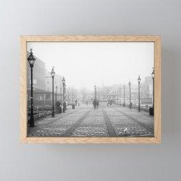 Broadway Pier B&W Framed Mini Art Print