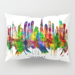 Dubai United Arab Emirates Skyline Pillow Sham