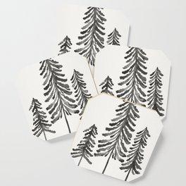 Pine Trees – Black Ink Coaster