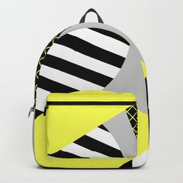 Eclectic Geometric - Yellow, Black And White Backpack