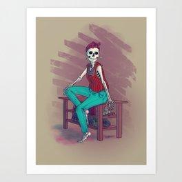 Modern Muerte Art Print