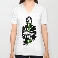 ouat V-neck T-shirts featuring OUAT Mr. Gold by Mad42Sam