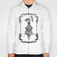 peacock black&white  Hoody
