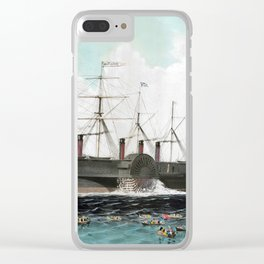 Vintage SS Great Eastern Steamboat Painting (1858) Clear iPhone Case