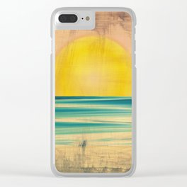 Ocean Sunset 1.0 Vintage Clear iPhone Case