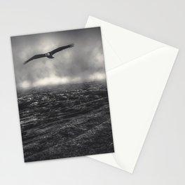 Hunting The Fog Line Bald Eagle Stationery Cards