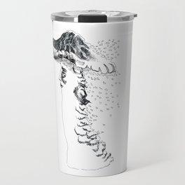 Melancholic Mushroom Creature Travel Mug