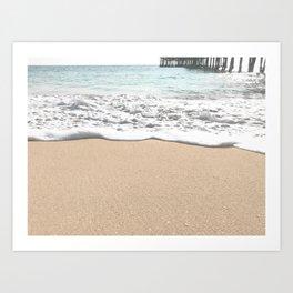 Wave Foam // California Ocean Pier Sandy Beaches Surf Country Pacific West Coast Photography Art Print