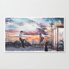 Bicycle Boy 10 Canvas Print