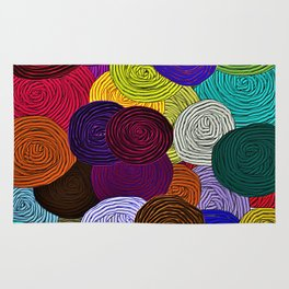 Colorful Circle Art Rug