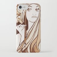 mucha iPhone & iPod Cases featuring My Mucha by Little Bunny Sunshine